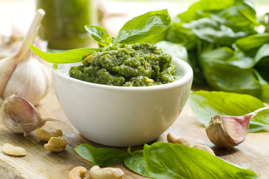 Basil Pesto - The Sacred Olive