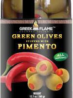 greek green olives pimento