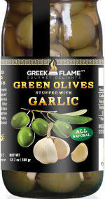 greek green olives stuffed with garlic