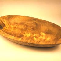 Olive Wood Rustic Oval Dish E
