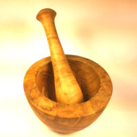 Olive wood Pestle and Mortar E