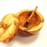 Olive wood Salt Jar